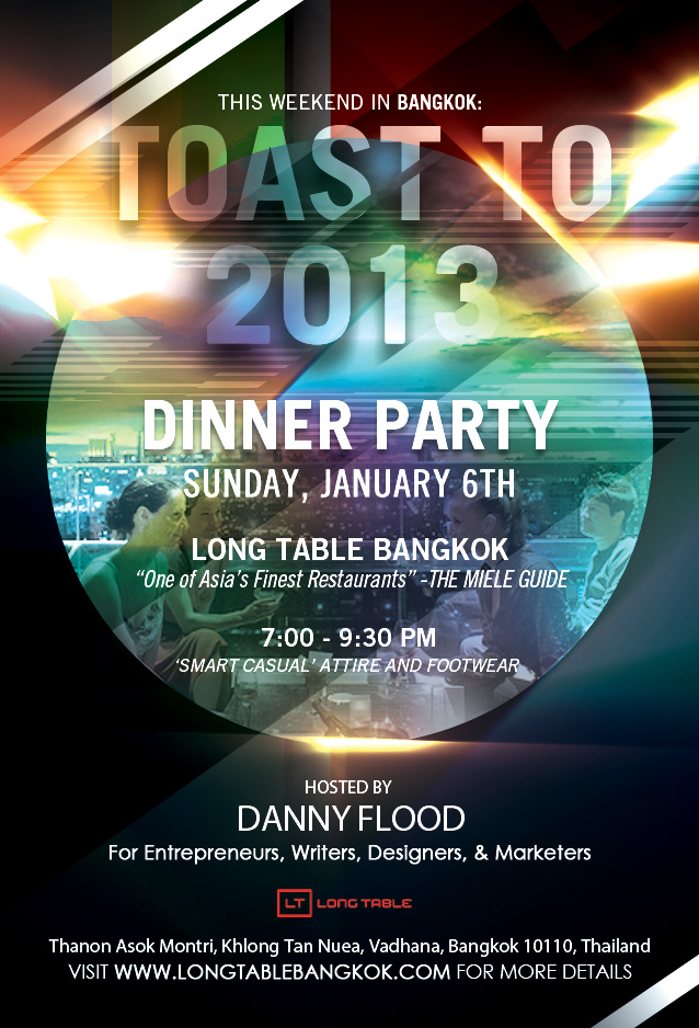 dinner party flier danny flood californian entrepreneur adventurer