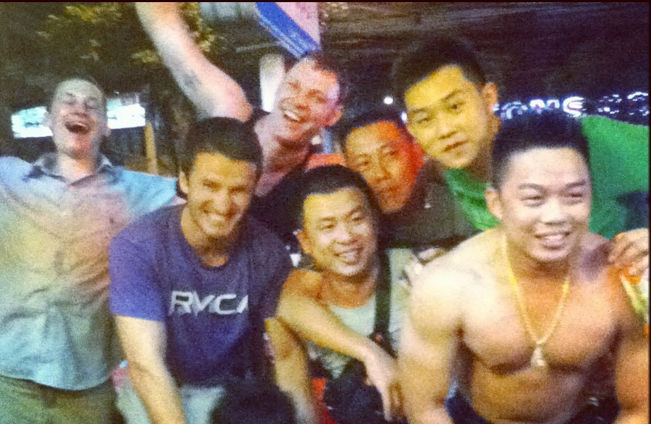 Just after the crazy Bangkok arm wrestling matches