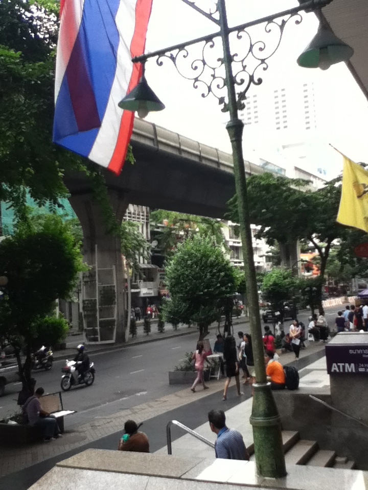Streets of Silom, Bangkok's financial district.
