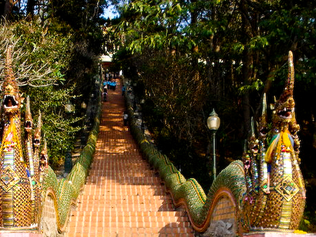 Steps to Wat Doi Suthep.