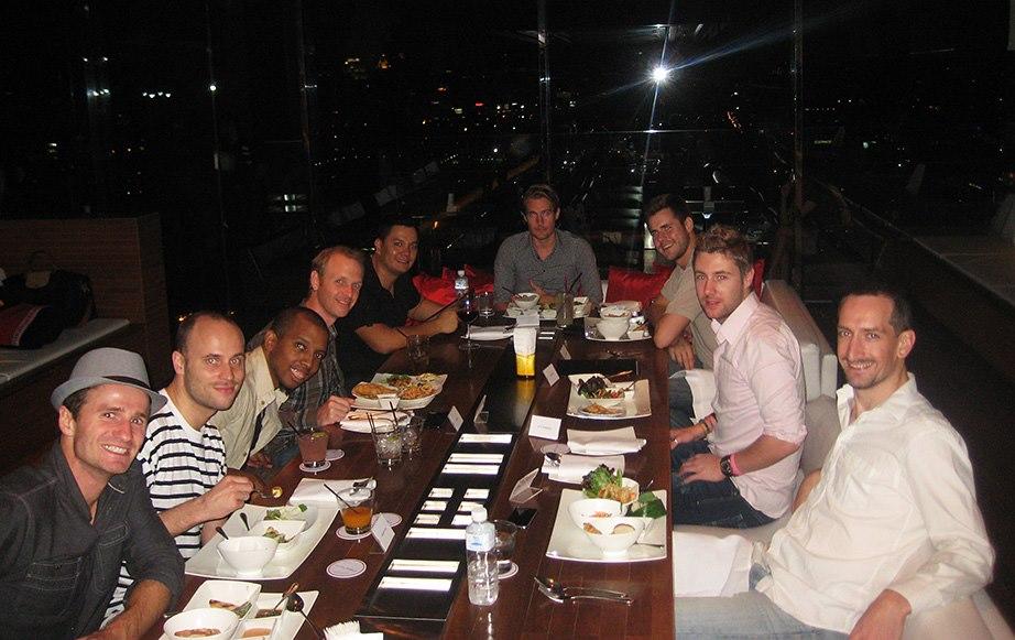 Dinner at Long Table Bangkok with entrepreneur friends