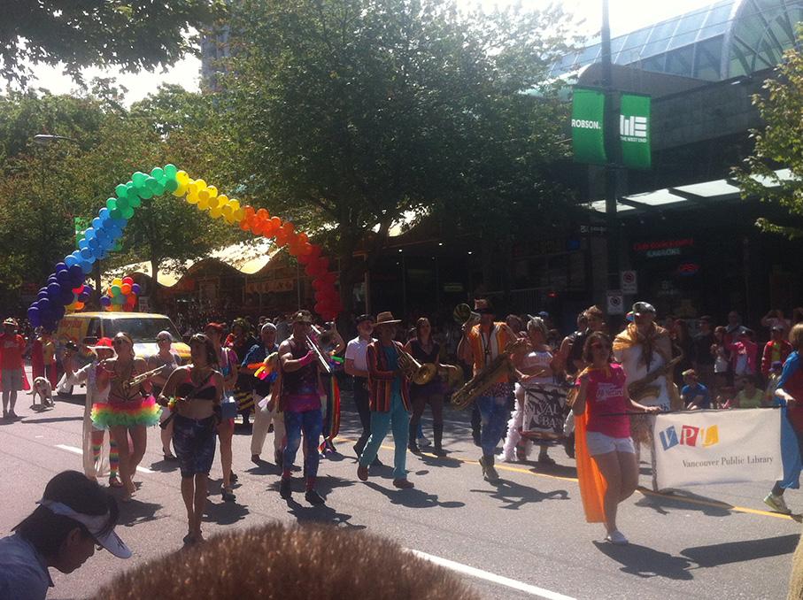 Pride parade in Vancouver!